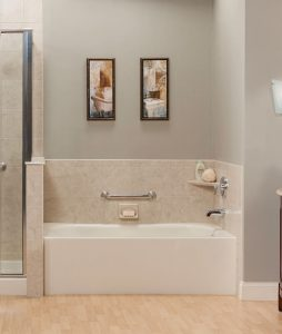 Bathtub replacement option - half wall