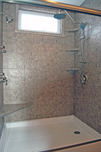 Shower remodel with all the features the client wanted - by Rainbow Bath and Shower - Grand Rapids, MI