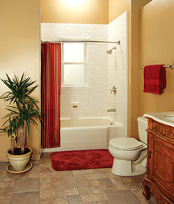 bathroom renovation. Your bathtub liner install can look this good, and comes with a lifetime warranty