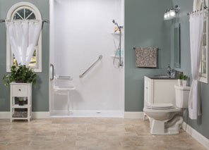 barrier free shower for beauty and safety - Rainbow Bath and Shower