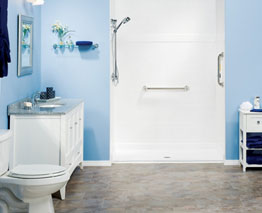 install a barrier free bath or a barrier free shower like this one - Rainbow Bath and Shower   Grand Rapids, MI