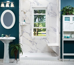 granite look bath replacement shower